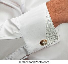 puño, camisa, enlaces