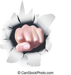 puño, ilustración