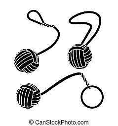 puños, -, mono, pictogram