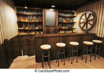 Pub interior side