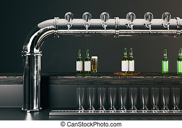 Pub with beer taps