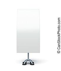 pubblicità, bilaterale, fondo., isolato, interpretazione, stare in piedi, bianco, 3d
