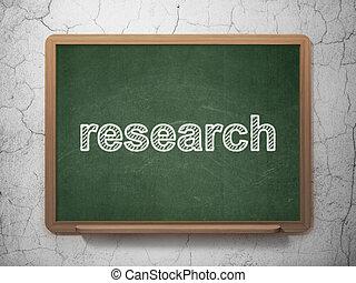 pubblicità, concept:, ricerca, su, lavagna, fondo