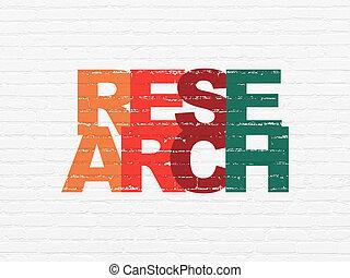 pubblicità, concept:, ricerca, su, parete, fondo