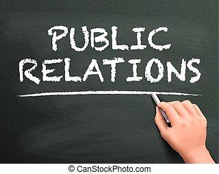 pubblico, scritto, parole, relazioni, mano