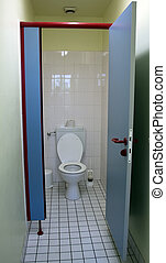 pubblico, toilet.