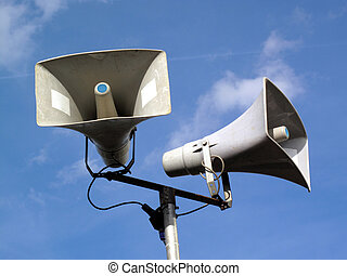 Public Address System - Public address loud speaker system...
