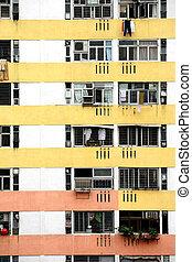 public apartment block in Hong Kong, China