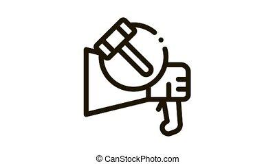 public bargaining Icon Animation. black public bargaining animated icon on white background