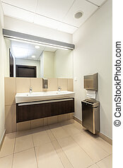 Public bathroom interior - Interior of a public bathroom...