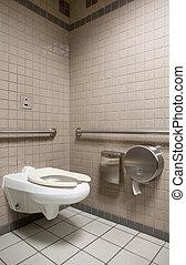 Public Bathroom - A public bathroom in an airport
