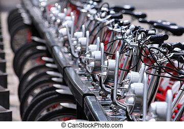 public, bicycles