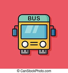 public bus transportation icon