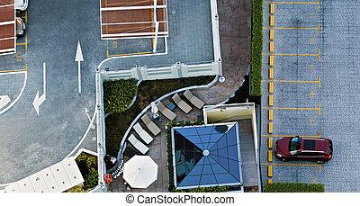 Car parking - Public car-park city parking lot. Car parking