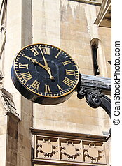 Public clock in a street of London
