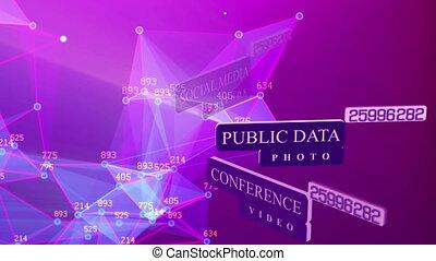 Public data, photo, social media, login password - Concepts...