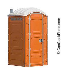 public facilities - orange portable public toilet