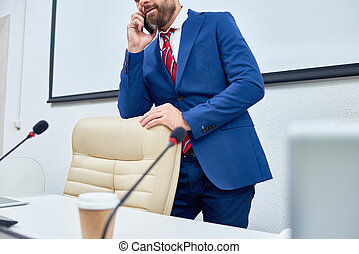 Public Figure Speaking by Phone