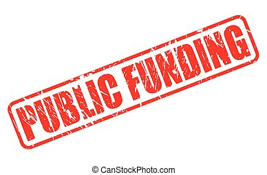 PUBLIC FUNDING red stamp text