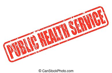 PUBLIC HEALTH SERVICE red stamp text