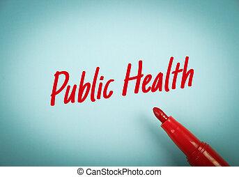 Public Health Text - Text Public Health written on blue...