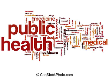 Public health word cloud concept