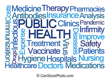 Public Health Word Cloud on White Background