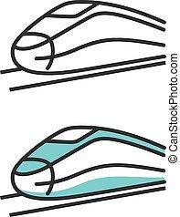 Public high speed rail - Vector