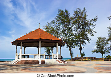 Public house pavilion near the sea