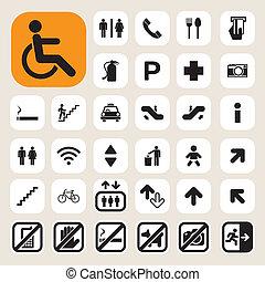 Public icons set. Illustration EPS10
