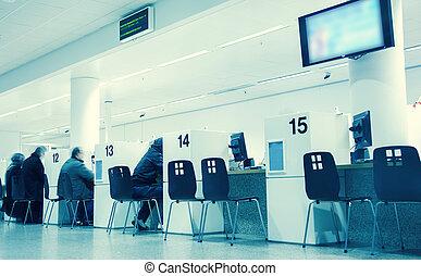 public in tax office