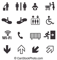 Public information icons set