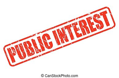 PUBLIC INTEREST red stamp text