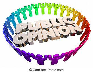 Public Opinion Open Forum People Words 3d Illustration