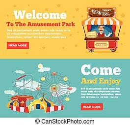 Public park, amusement park