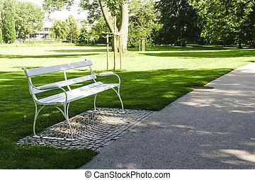 Public Park in BAD NAUHEIM Germany in Summer