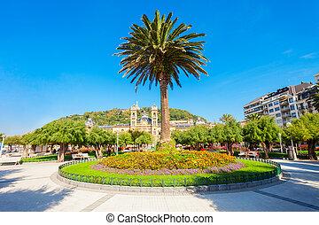 Public park in San Sebastian