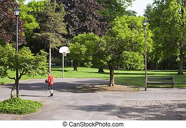 Public park in a neighborhood, Portland OR.
