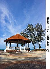 Public pavilion near the beach