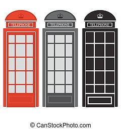public phone booth. vector illustration of british street...
