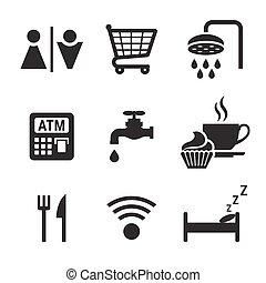 Public pictograms icons set