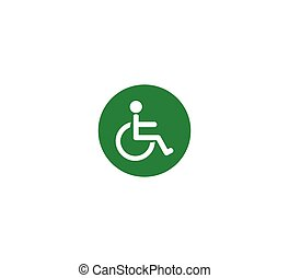 Public places vector icon - disabled place