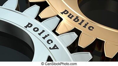 Public Policy gearwheels, 3D animation video