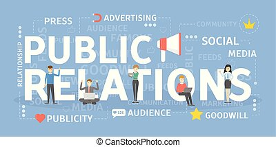 Public relations concept illustration. Idea of politics and society.