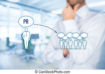 Public relations PR - Public relations (PR) concept....