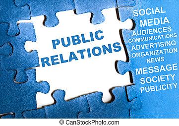 Public relations puzzle - Public relations blue puzzle...