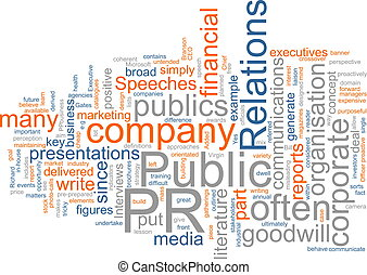 Public relations - Word cloud concept illustration of public...