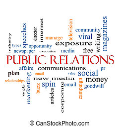 Public Relations Word Cloud Concept with great terms such as...