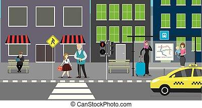 public, route, rue, transport, ville, arrêt
