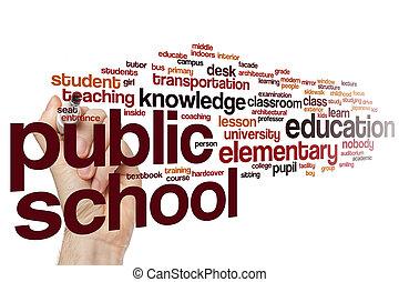 Public school word cloud